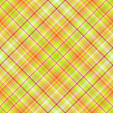Plaid vert et orange Photo libre de droits