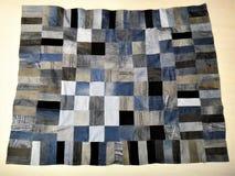 Plaid von alten Jeans Stockbild