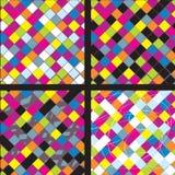 Plaid whimsical seamless patterns Stock Photos