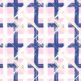 Plaidpatroon met brede penseelstreken en strepen Royalty-vrije Stock Afbeelding