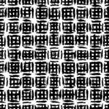 Plaidpatroon met de kruising van waterverflijnen. Royalty-vrije Stock Foto