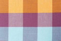 Plaidpatroon, textuur van lendendoekstof Royalty-vrije Stock Foto's
