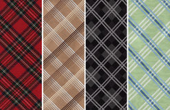 Plaids Textile Swatches Stock Images