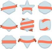 Plain badges Royalty Free Stock Photo