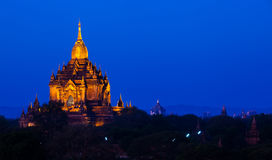 The plain of bagan at night, Bagan, Myanmar Royalty Free Stock Images