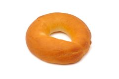 Plain bagel Royalty Free Stock Photography