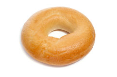 Bagel. A plain bagel on a white background royalty free stock images