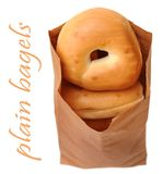 Plain bagels Royalty Free Stock Photos