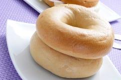 Plain bagels Stock Photos