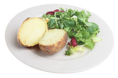 Plain Baked Potato Royalty Free Stock Photography