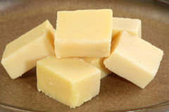 Plain barfi. Asian confectionery pieces of fresh home made creamy barfi Stock Photography