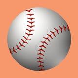Plain baseball on orange background Stock Images
