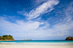 Plain beach scenery Stock Photos