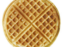 Plain belgium american waffles isolated Royalty Free Stock Images