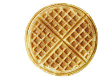 Plain belgium american waffles isolated Stock Photography