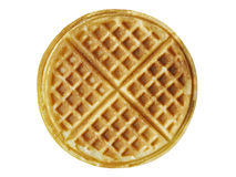 Plain belgium american waffles isolated Stock Photo