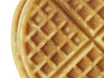 Plain belgium american waffles isolated Stock Photos
