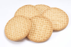 Plain biscuits Royalty Free Stock Image