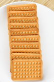 Plain biscuits Stock Photo