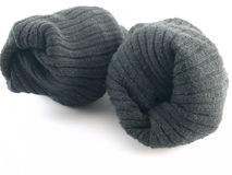 Plain Black Socks on White Background Stock Photography