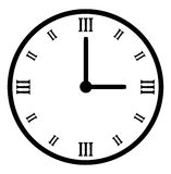 Plain black vector clock Royalty Free Stock Photography