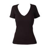 Plain Black woman Shirt Royalty Free Stock Images