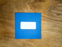 Plain blue windowed envelope Stock Photos