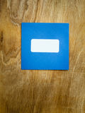 Plain blue windowed envelope Royalty Free Stock Photo