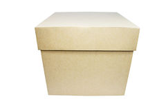 Plain Box. Plain carton box. Gift box concept Royalty Free Stock Photography