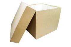 Plain Box. Plain carton box. Gift box concept Royalty Free Stock Photos