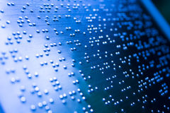 Plain Braille Page Macro Stock Image