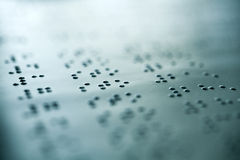 Plain Braille Page Macro Royalty Free Stock Images
