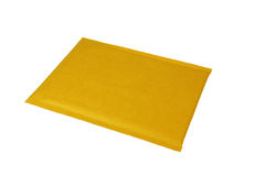 Plain Brown Shipping Envelope. Padded shipping envelope.  (with clipping path Royalty Free Stock Image