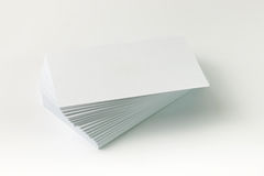 Plain business card Stock Images