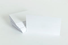 Plain business card Stock Image
