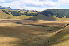 Plain of Castelluccio di Norcia. Sibillini Mountains Stock Images