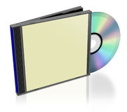Plain CD pack Stock Photos