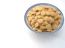 Plain Cereal. Bowl of cereal no milk royalty free stock image