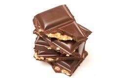 Plain chocolate with hazelnuts Royalty Free Stock Photo