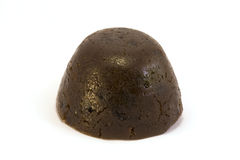 Plain christmas pudding over white Stock Photography