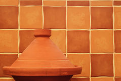 Plain Clay Moroccan Tagine Royalty Free Stock Photo
