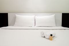 Plain color bedroom Royalty Free Stock Images