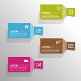Plain colored paper stickers  with numbers and Stock Photos