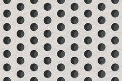 Plain concrete surface with cylindrical holes Stock Images