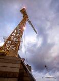 A plain construction crane Royalty Free Stock Photos