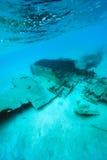 Plain crash underwater Stock Photo