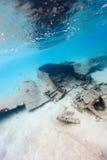 Plain crash underwater Royalty Free Stock Photo