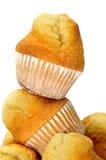 Plain cupcakes Stock Images