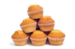 Plain cupcakes Royalty Free Stock Photos