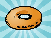 Plain donut Stock Photo